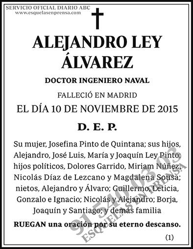Alejandro Ley Álvarez